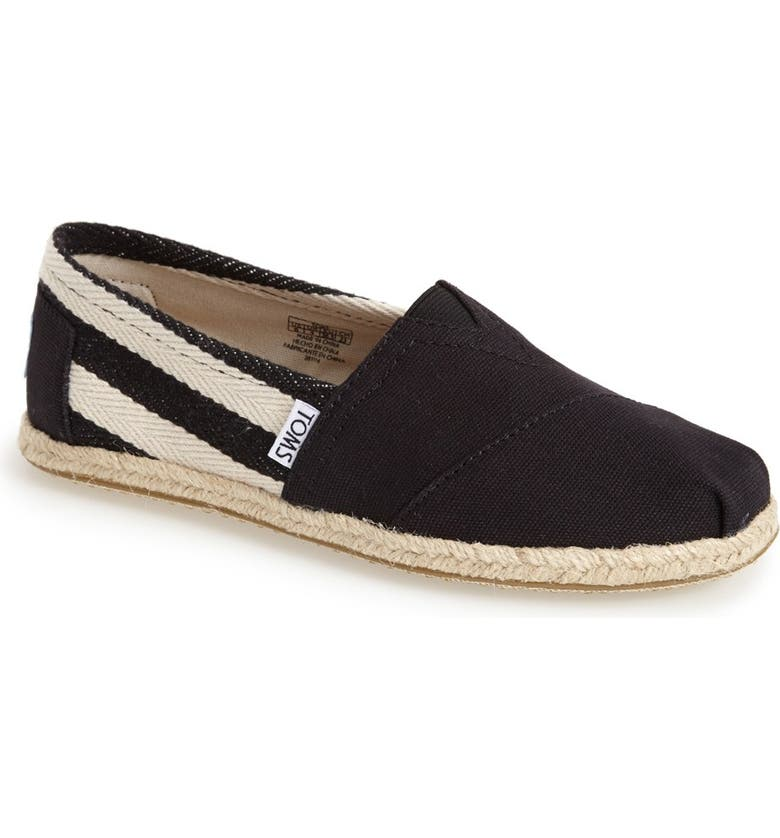 TOMS 'Classic - University Stripe' Slip-On, Main, color, 001