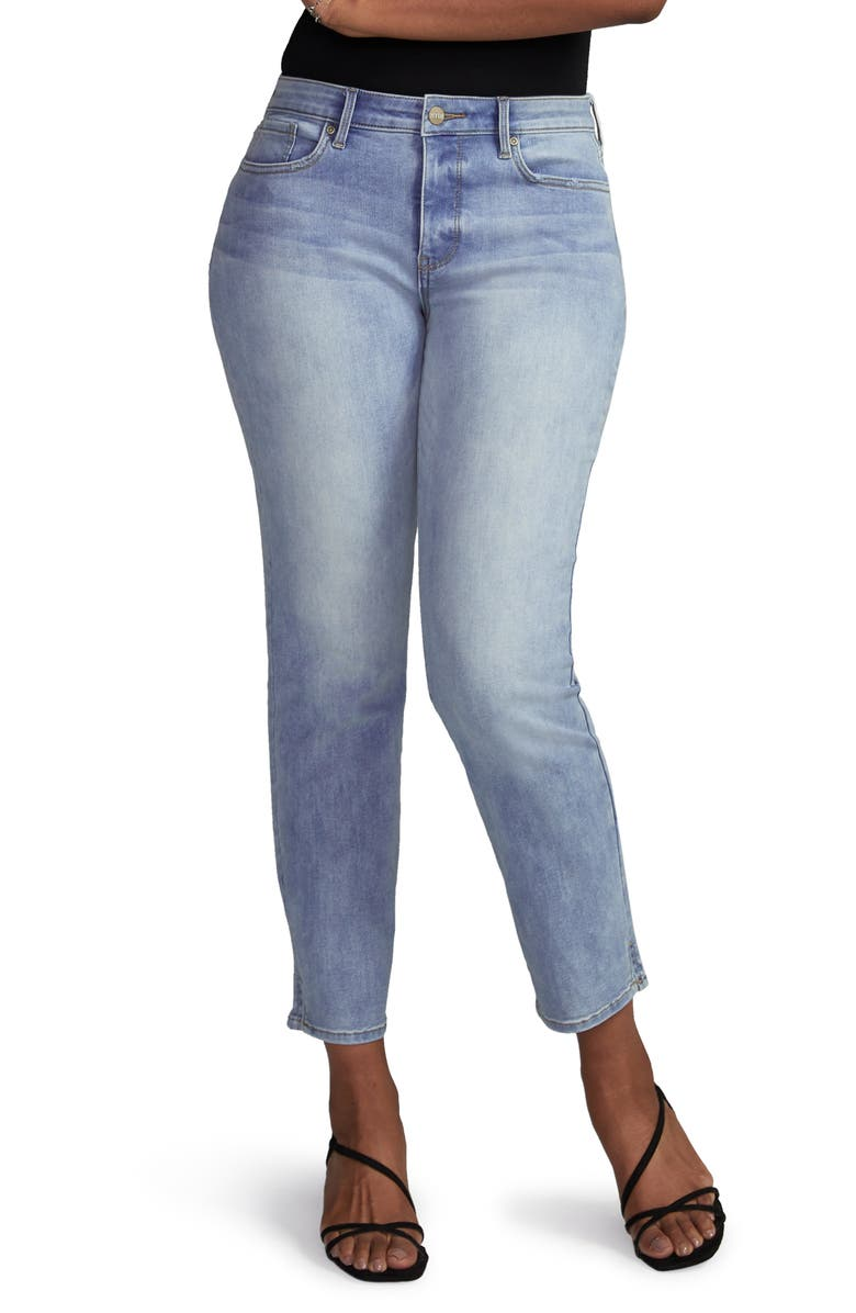 CURVES 360 BY NYDJ Side Slit Slim Straight Jeans, Main, color, 450