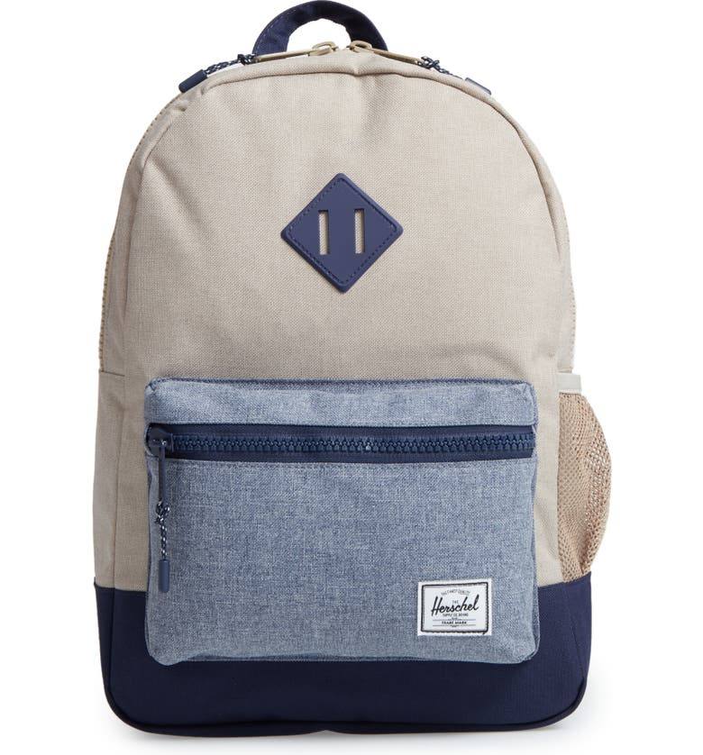 HERSCHEL SUPPLY CO. Heritage Backpack, Main, color, KHAKI CHAMBRAY CROSSHATCH
