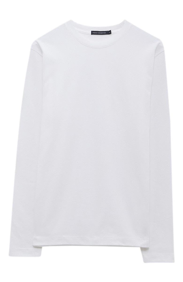FRENCH CONNECTION Popcorn Jersey Long Sleeve T-Shirt, Main, color, LINEN WHITE