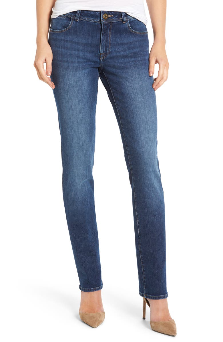 DL1961 Coco Curvy Straight Leg Jeans, Main, color, PACIFIC