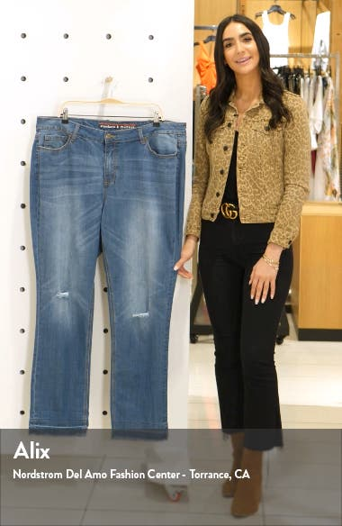 High Waist Straight Leg Jeans, sales video thumbnail