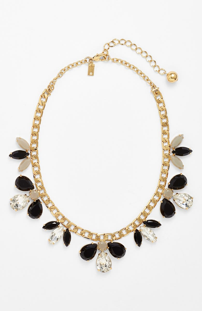 KATE SPADE NEW YORK 'gardens of paris' stone frontal necklace, Main, color, 001