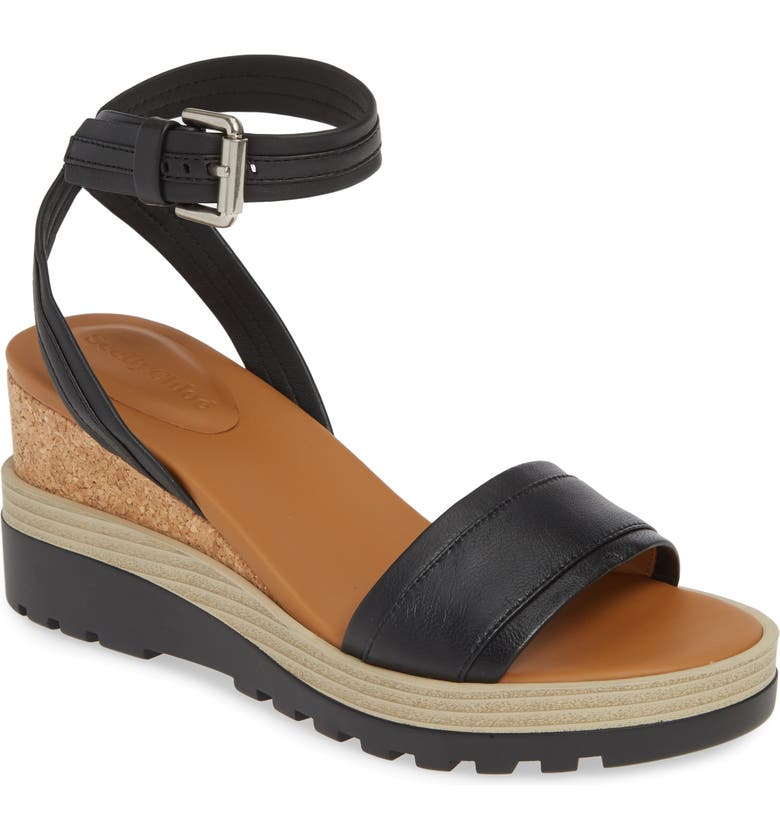 SEE BY CHLOÉ 'Robin' Wedge Sandal, Main, color, 002