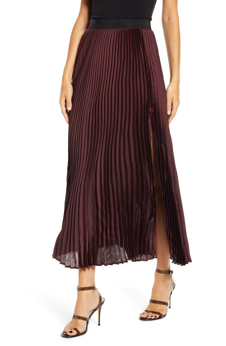 LEITH Pleated Maxi Skirt, Main, color, 938