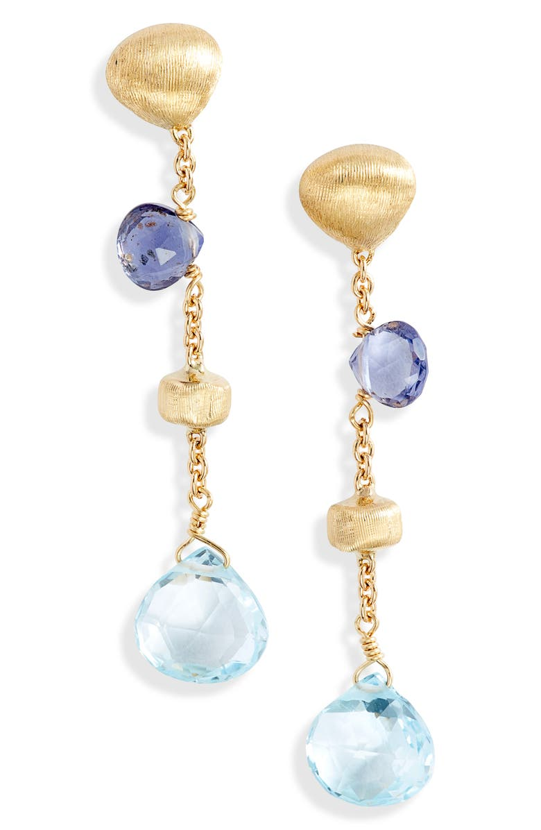 MARCO BICEGO Africa Semiprecious Stone Drop Earrings, Main, color, Gold