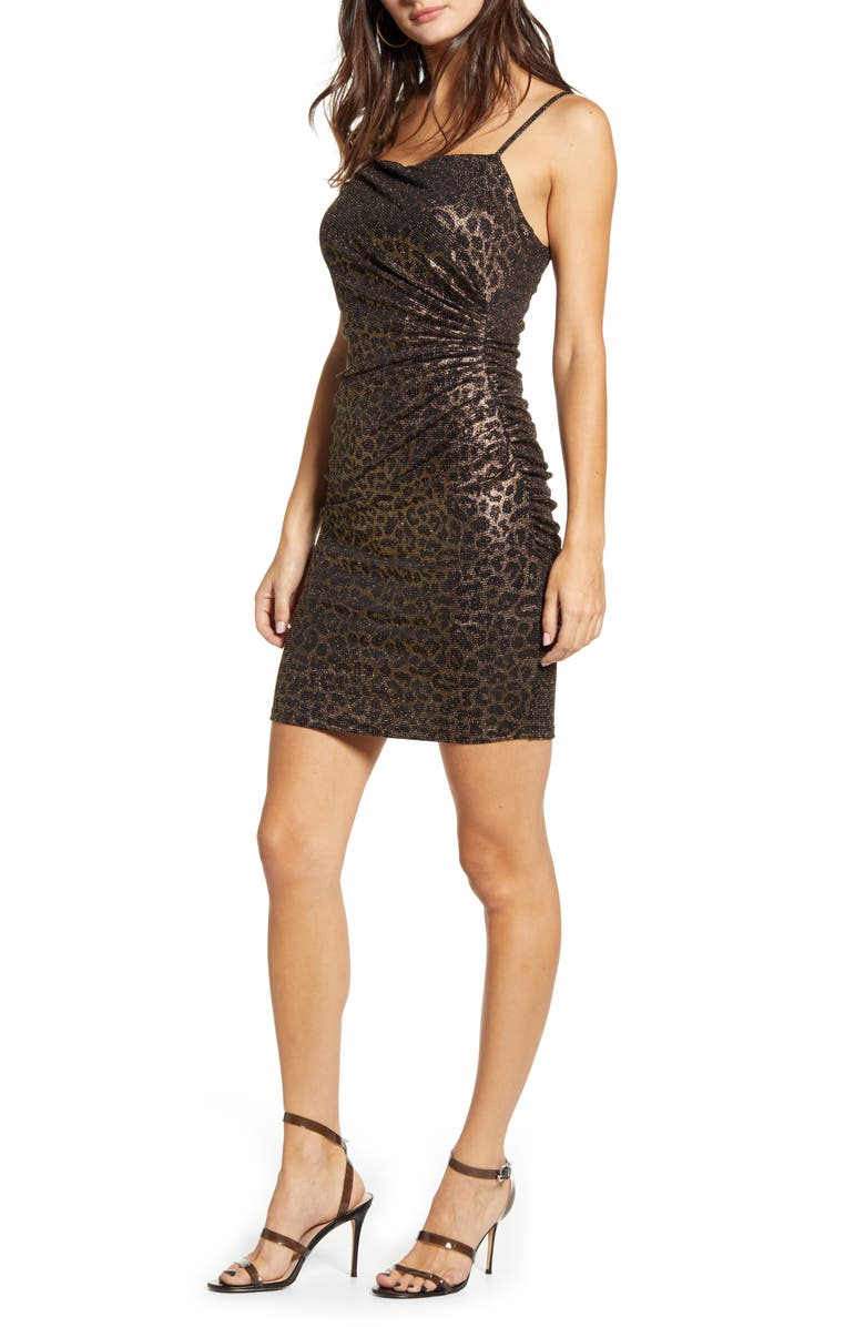 LEITH Ruched Body-Con Minidress, Main, color, 710