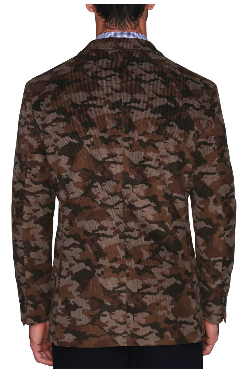 TAILORBYRD Patterned Corduroy Textured Two Button Notch Lapel Modern Fit Sport Coat, Main, color, CAMO