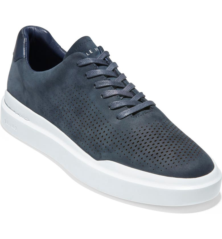 COLE HAAN GrandPro Rally Sneaker, Main, color, NAVY INK NUBUCK