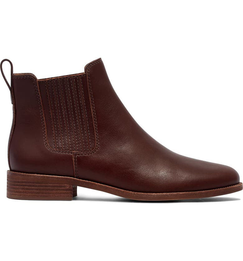 MADEWELL The Ainsley Chelsea Boot, Main, color, RICH BROWN LEATHER