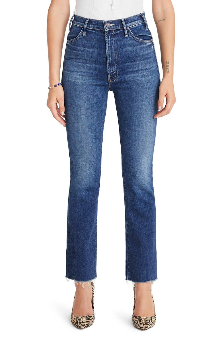 MOTHER The Hustler High Waist Ankle Flare Jeans, Main, color, 401