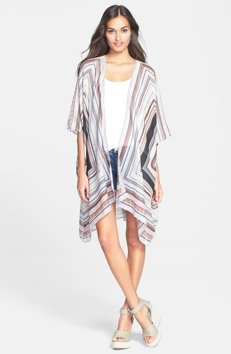 SOL & MER Oversized Print Cover-Up, Main, color, 001