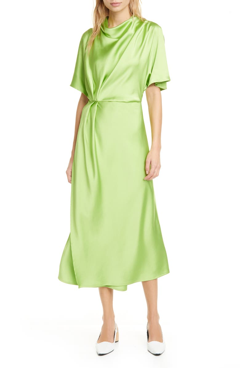 STINE GOYA Rhode Drape Midi Dress, Main, color, 300