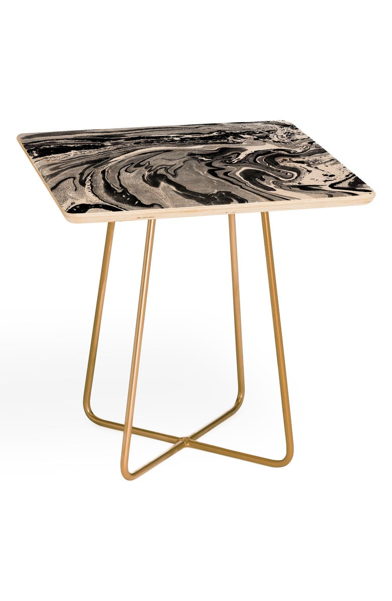 DENY DESIGNS Amy Sia Side Table, Main, color, BLACK