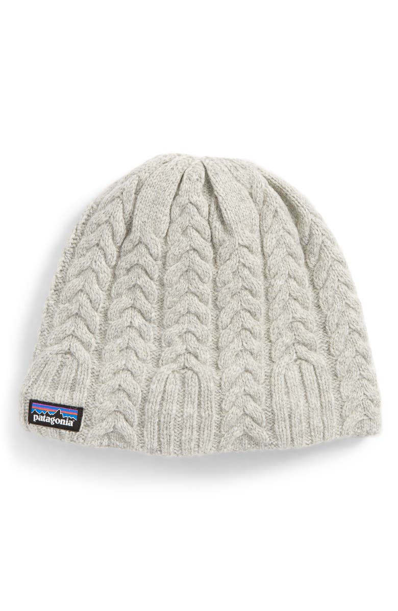 PATAGONIA Cable Beanie, Main, color, 020