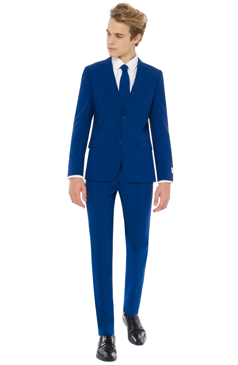 OPPOSUITS Navy Royale Two-Piece Suit with Tie, Main, color, BLUE