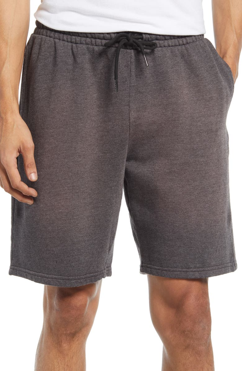 ZELLA Atlas Vintage Wash Shorts, Main, color, BLACK OXIDE