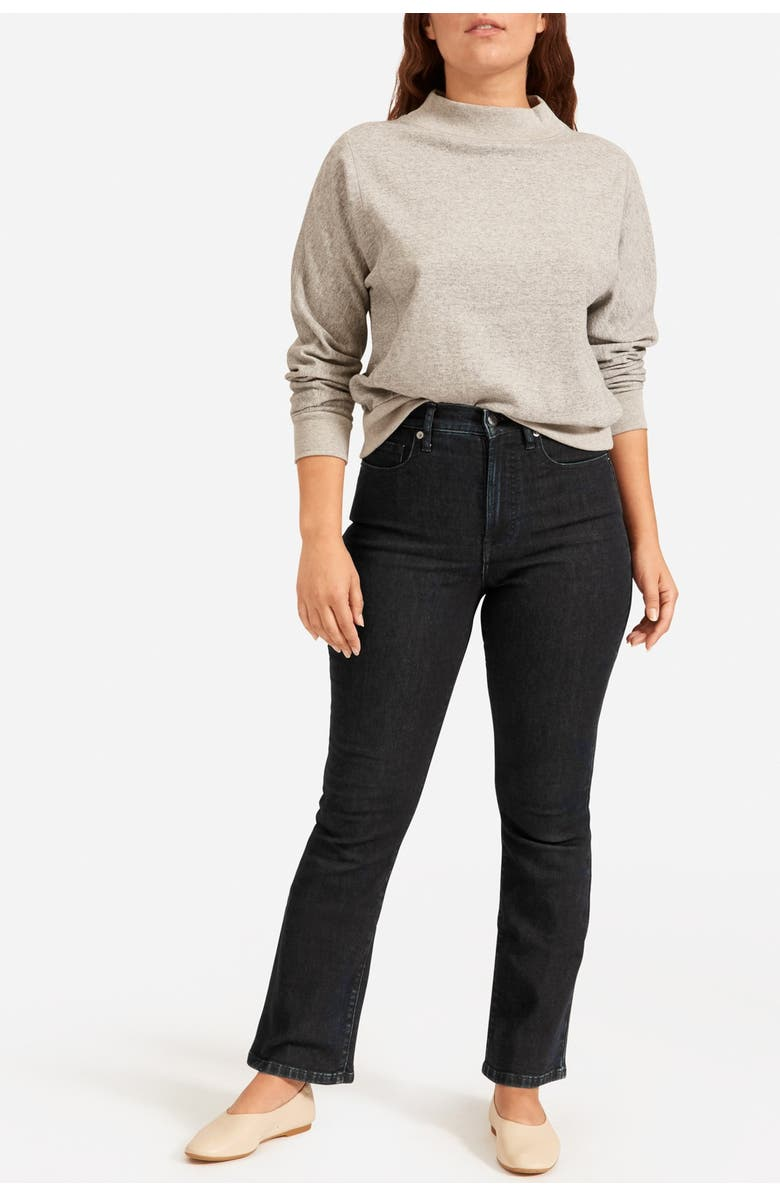EVERLANE The Authentic Stretch Skinny Bootcut Jeans, Main, color, DARK BLUE WASH