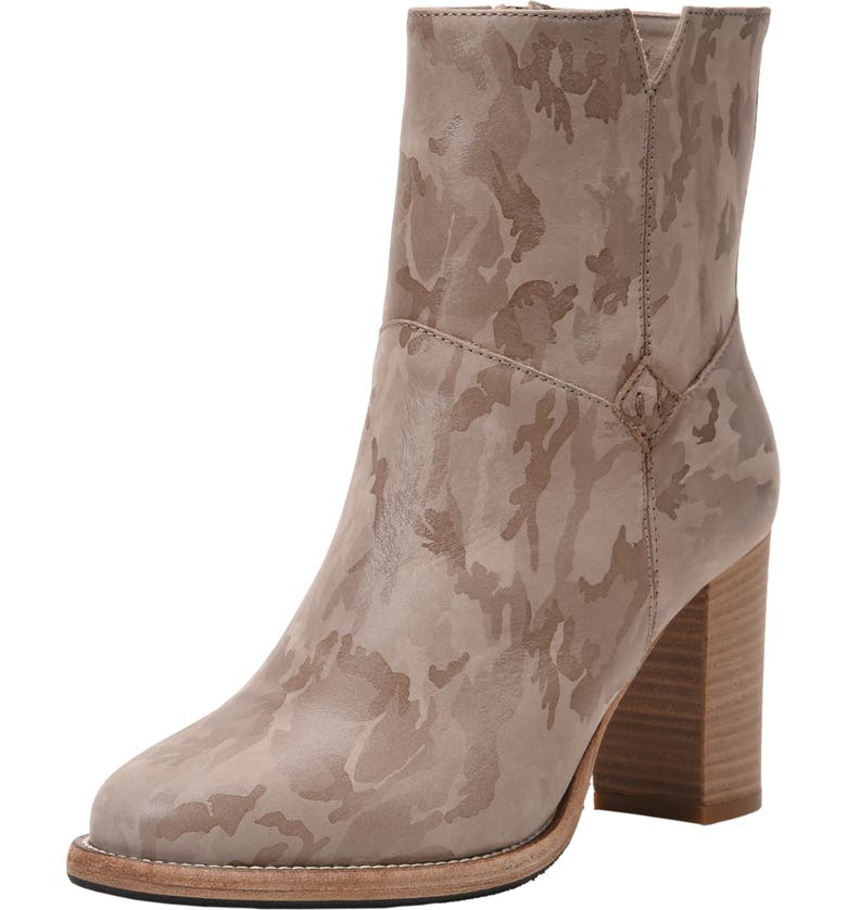 ROSS & SNOW Renata Weatherproof Genuine Shearling Lined Bootie, Main, color, BLUSH CAMO LEATHER