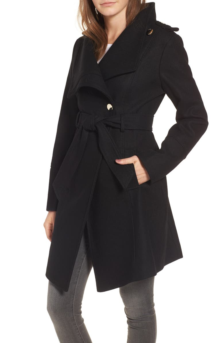GUESS Wrap Trench Coat, Main, color, Black