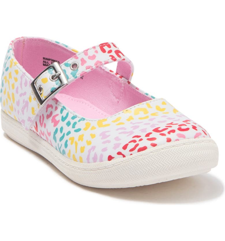 HARPER CANYON Tobi Play Mary Janes, Main, color, WHITE MULTI LEOPARD