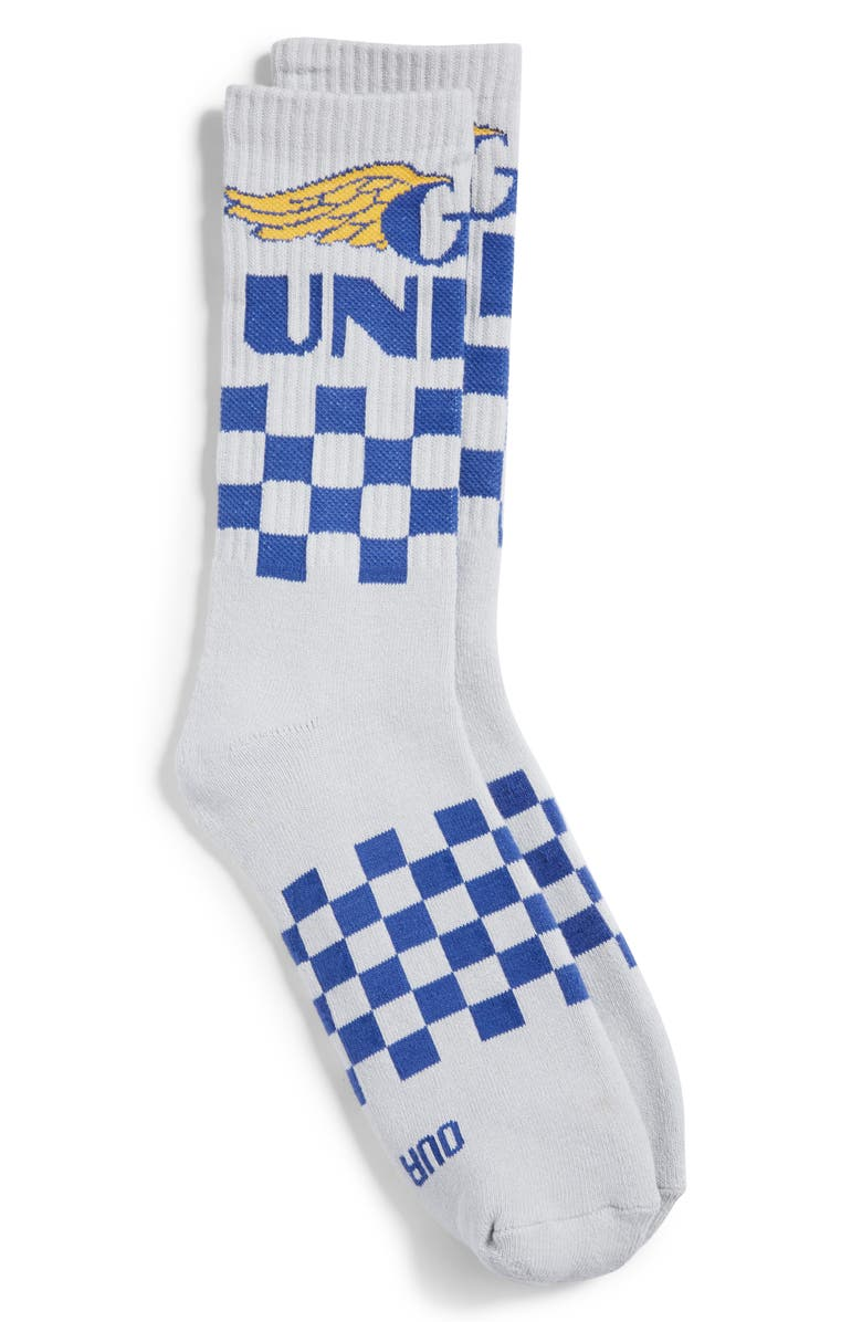 OUR LEGENDS x Union GT Checkerboard Crew Socks, Main, color, 100