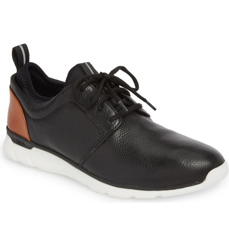 JOHNSTON & MURPHY Prentiss XC4<sup>®</sup> Waterproof Low Top Sneaker, Main, color, BLACK LEATHER
