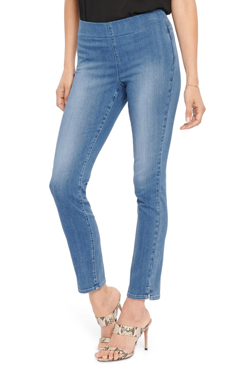 NYDJ Pull-On Ankle Skinny Jeans, Main, color, CLEAN HORIZON