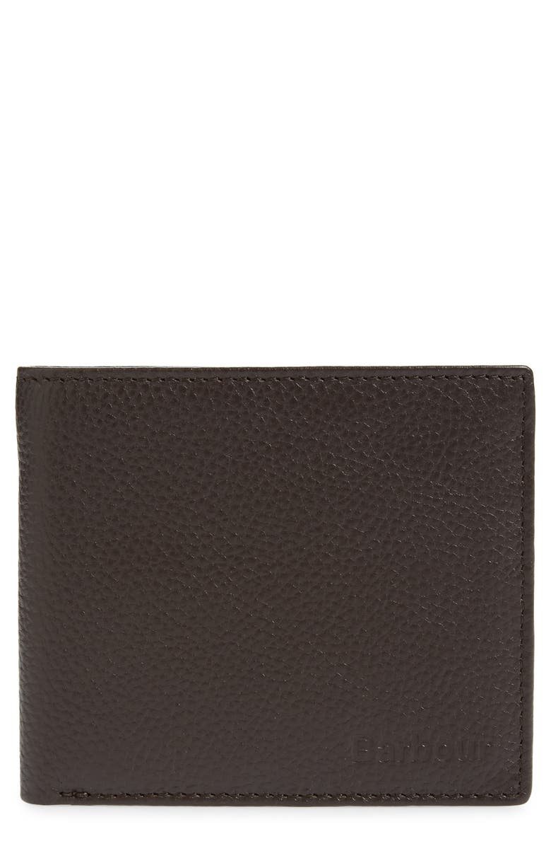 BARBOUR Amble Leather RFID Wallet, Main, color, 201