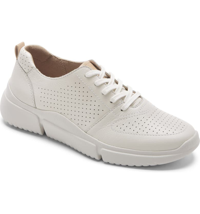 ROCKPORT Perforated Lace-Up Sneaker, Main, color, WHITE WASHABLE LEATHER
