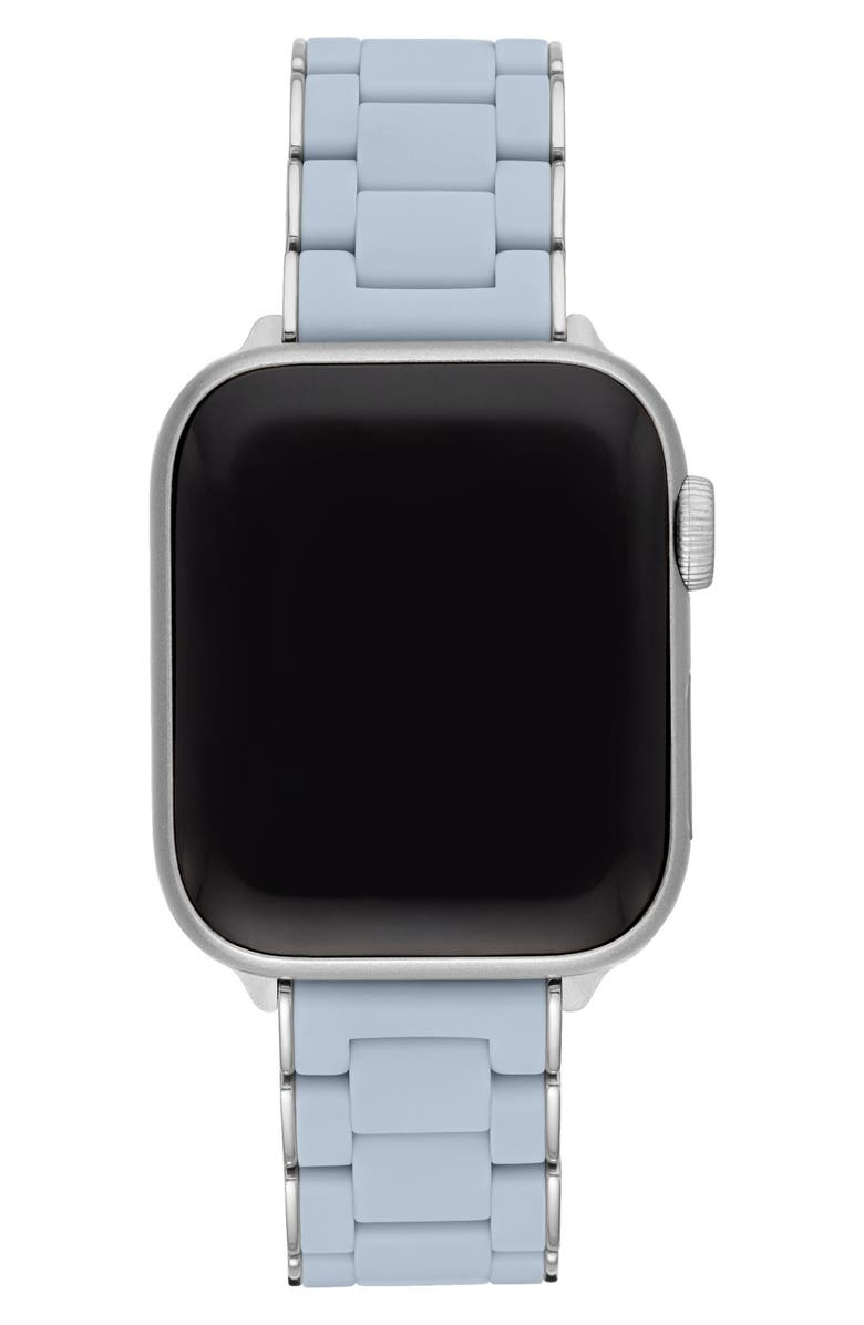 MICHELE Apple Watch<sup>®</sup> Wrapped Silicone Bracelet Strap, Main, color, Blue