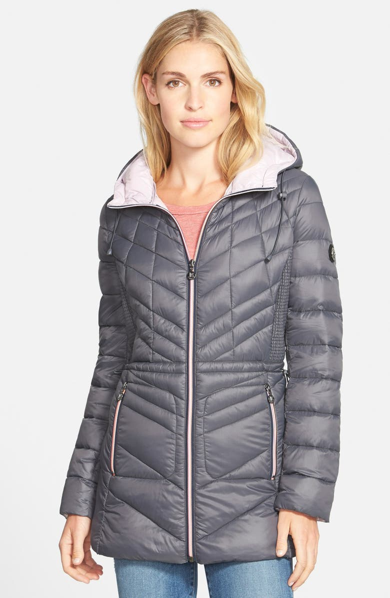 BERNARDO Packable Hooded Coat with Down & PrimaLoft<sup>®</sup> Fill, Main, color, 099