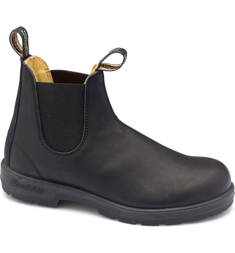 BLUNDSTONE FOOTWEAR Blundstone Classic 550 Series Water Resistant Chelsea Boot, Main, color, BLACK LEATHER