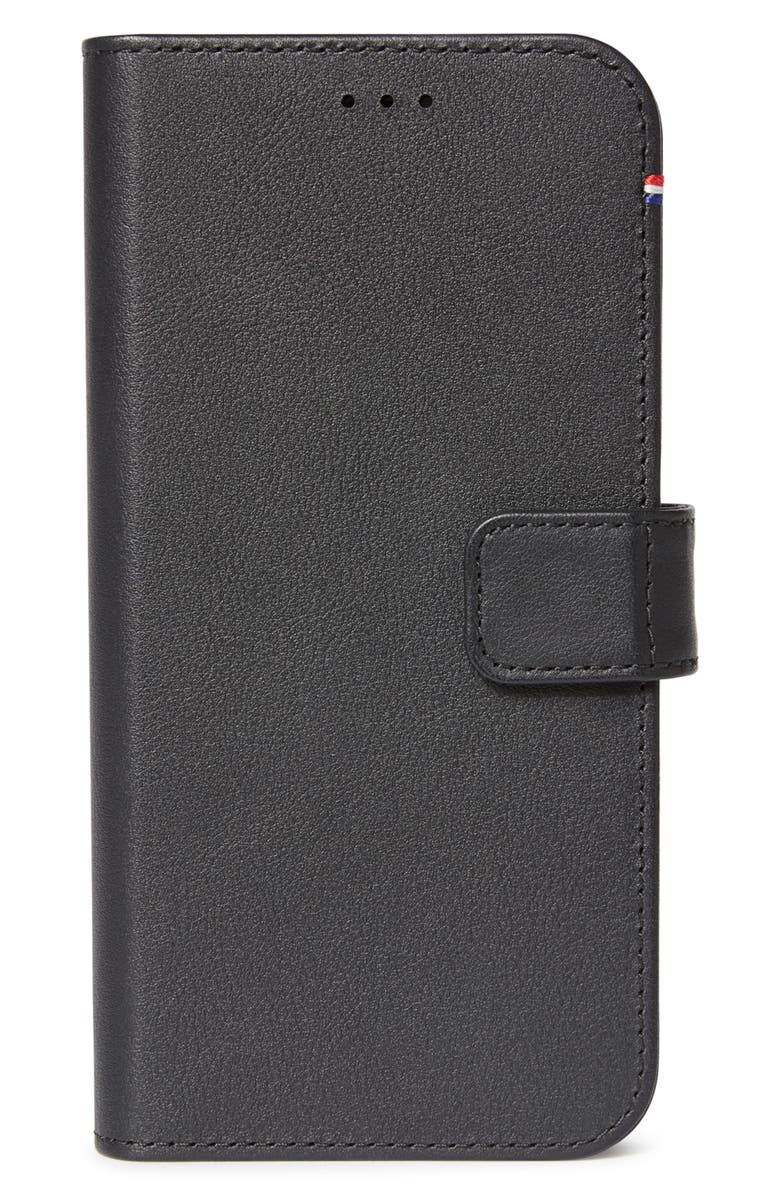 DECODED iPhone 12 Pro Max Leather Wallet with Detachable Case, Main, color, BLACK