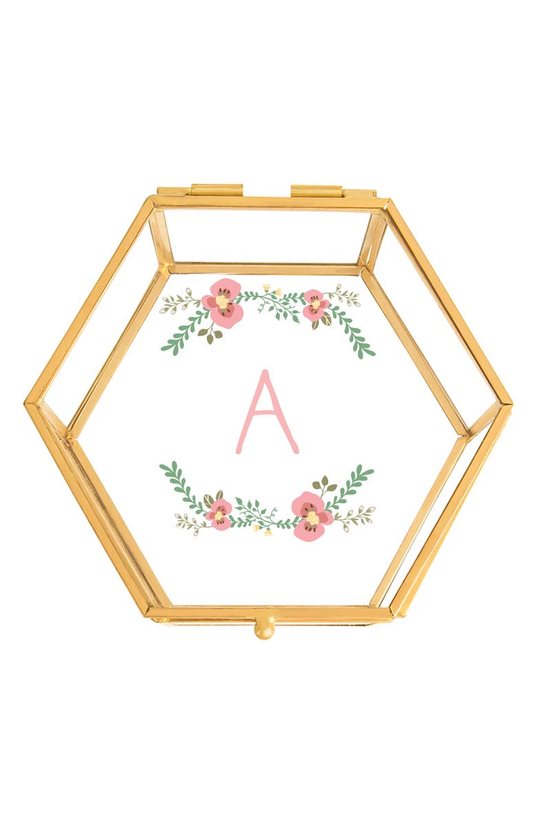CATHY'S CONCEPTS Floral Monogram Keepsake Box, Main, color, 710
