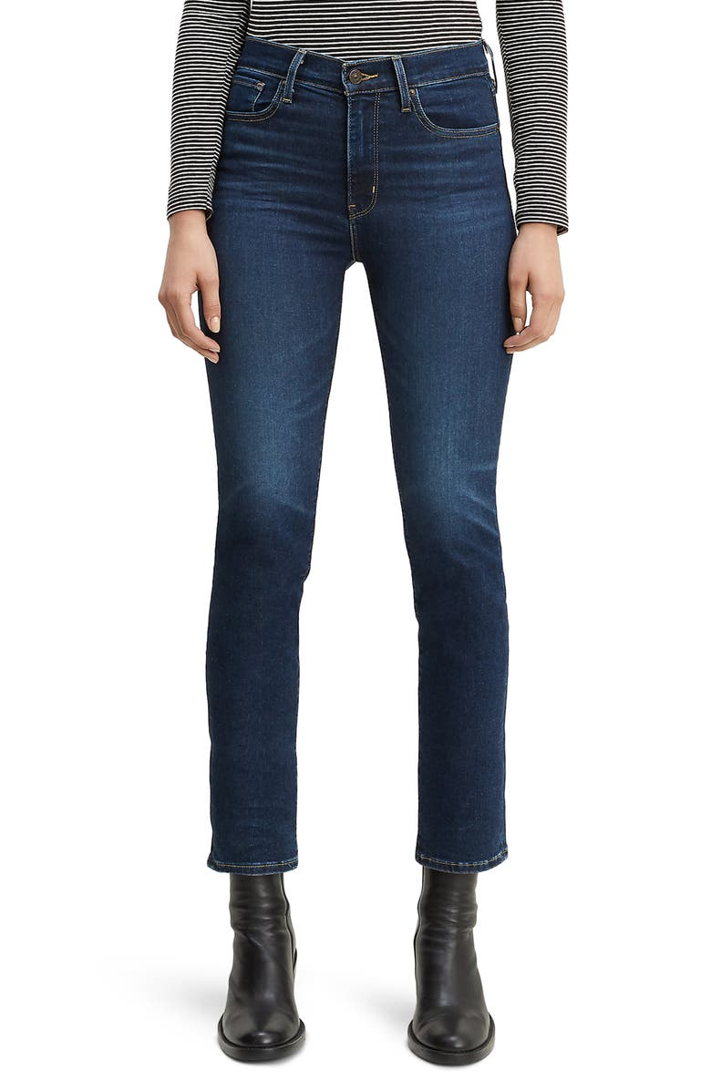 LEVI'S<SUP>®</SUP> 724<sup>™</sup> High Waist Crop Straight Leg Jeans, Main, color, 401