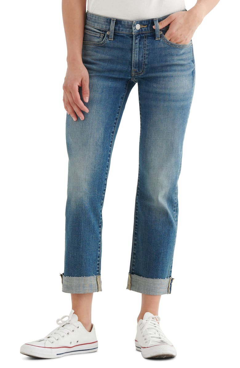 LUCKY BRAND Sweet & Straight Crop Jeans, Main, color, ATWIXT CT