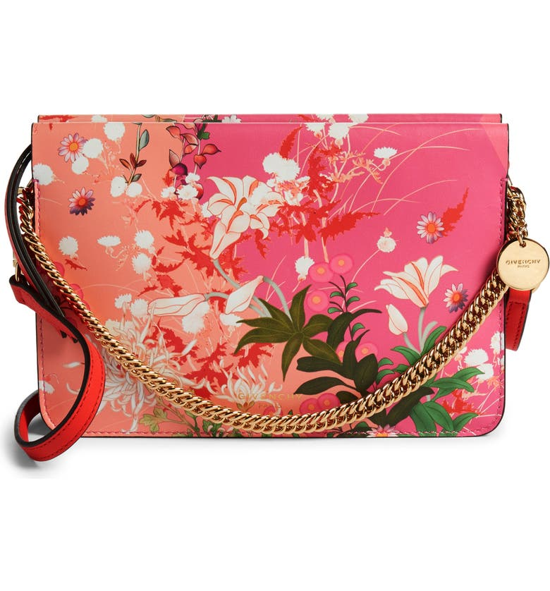 GIVENCHY Aroma Leather Floral Crossbody Bag, Main, color, 650