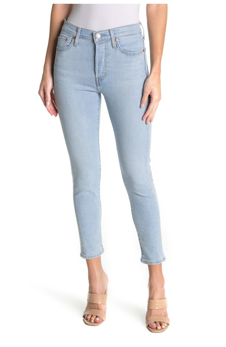 LEVIS Wedgie Skinny Stretch Jeans, Main, color, OPAL SHIMMER