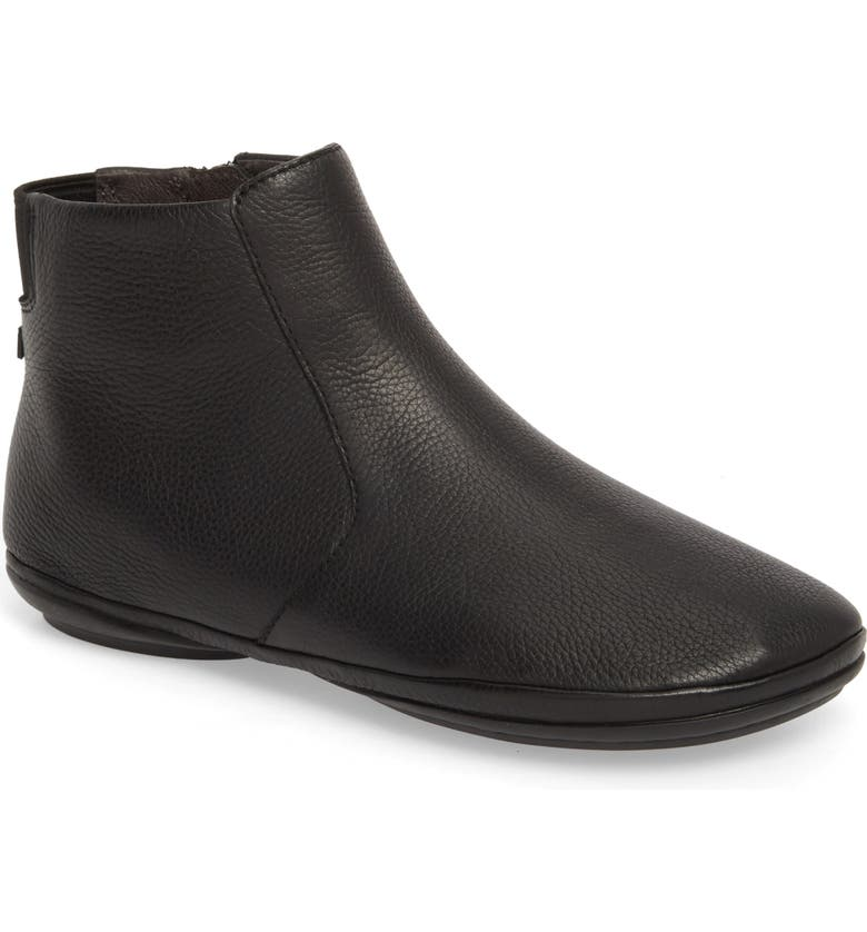 CAMPER Right Nina Bootie, Main, color, BLACK LEATHER