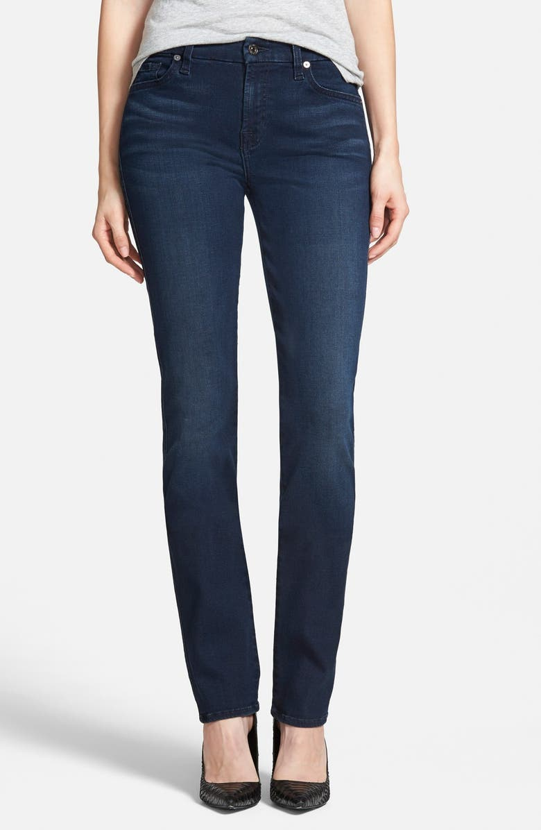 7 FOR ALL MANKIND<SUP>®</SUP> Slim Illusion Kimmie Straight Leg Jeans, Main, color, 404