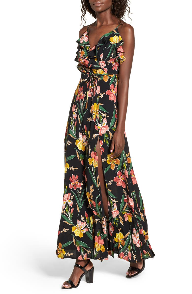 PRIVACY PLEASE Karen Backless Maxi Dress, Main, color, 002