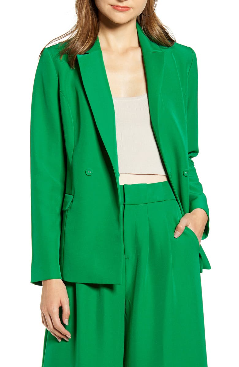 ENGLISH FACTORY Tailored Double Breasted Blazer, Main, color, 300