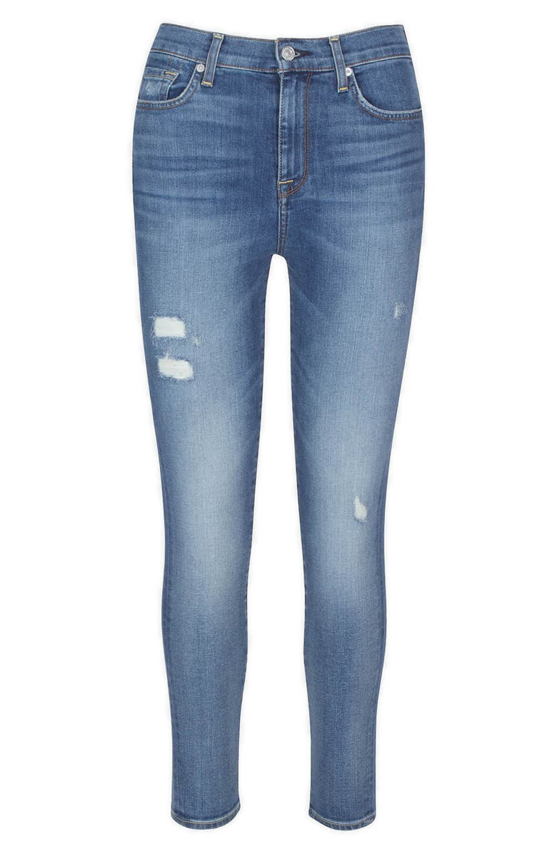 7 FOR ALL MANKIND<SUP>®</SUP> High Waist Ankle Skinny Jeans, Main, color, DISAUTLITD