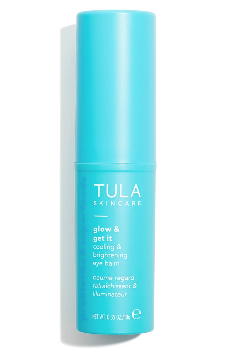TULA SKINCARE Glow & Get It Cooling & Brightening Eye Balm, Main, color, No Color