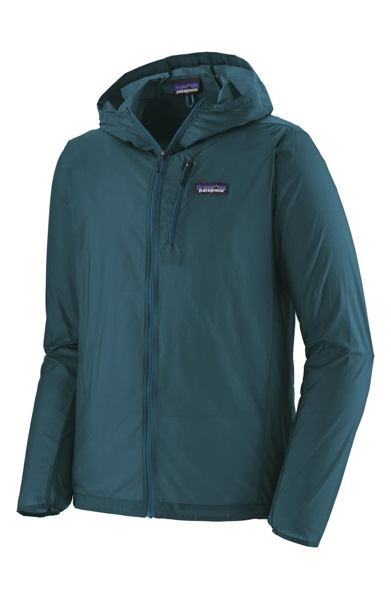 PATAGONIA Houdini<sup>®</sup> Water Repellent Hooded Jacket, Main, color, CRATER BLUE