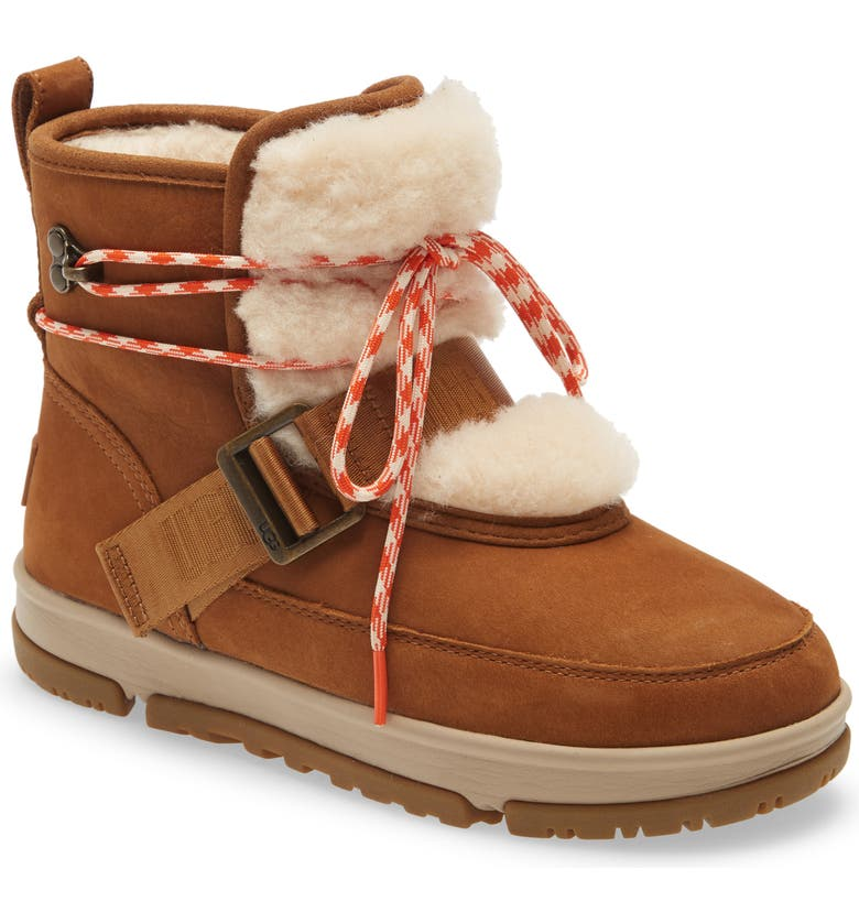 UGG<SUP>®</SUP> Classic Weather Waterproof Hiker Boot, Main, color, CHESTNUT LEATHER