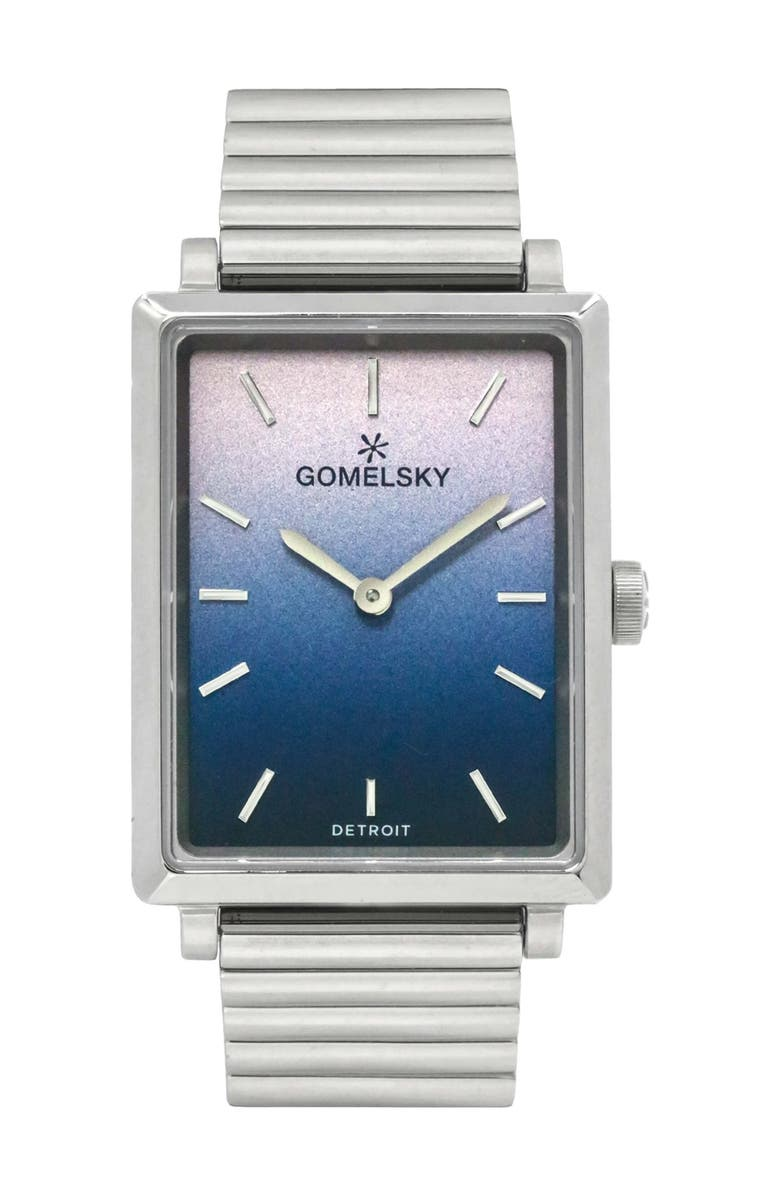 GOMELSKY BY SHINOLA Women's Shirley Fromer Bracelet Watch, 32mm x 25mm, Main, color, SILVER