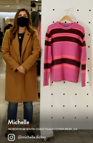 Nimah Stripe Face Patch Wool Sweater, sales video thumbnail