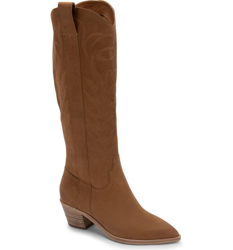 DOLCE VITA Solei Western Boot, Main, color, WHISKEY NUBUCK